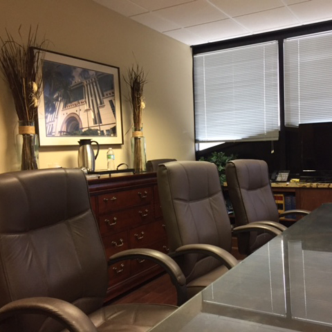 The corporate boardroom at Herman Law