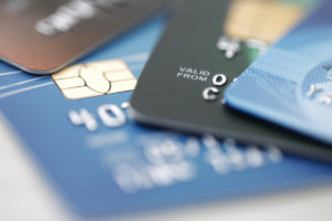 A few credit cards used in credit card fraud in West Palm Beach.