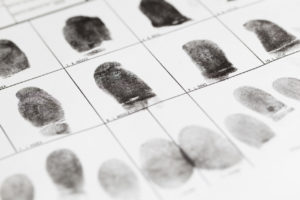 ingerprints taken for a violent crime in West Palm Beach