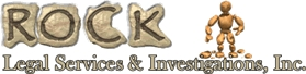 Logo for Rock Legal Services and Investigations
